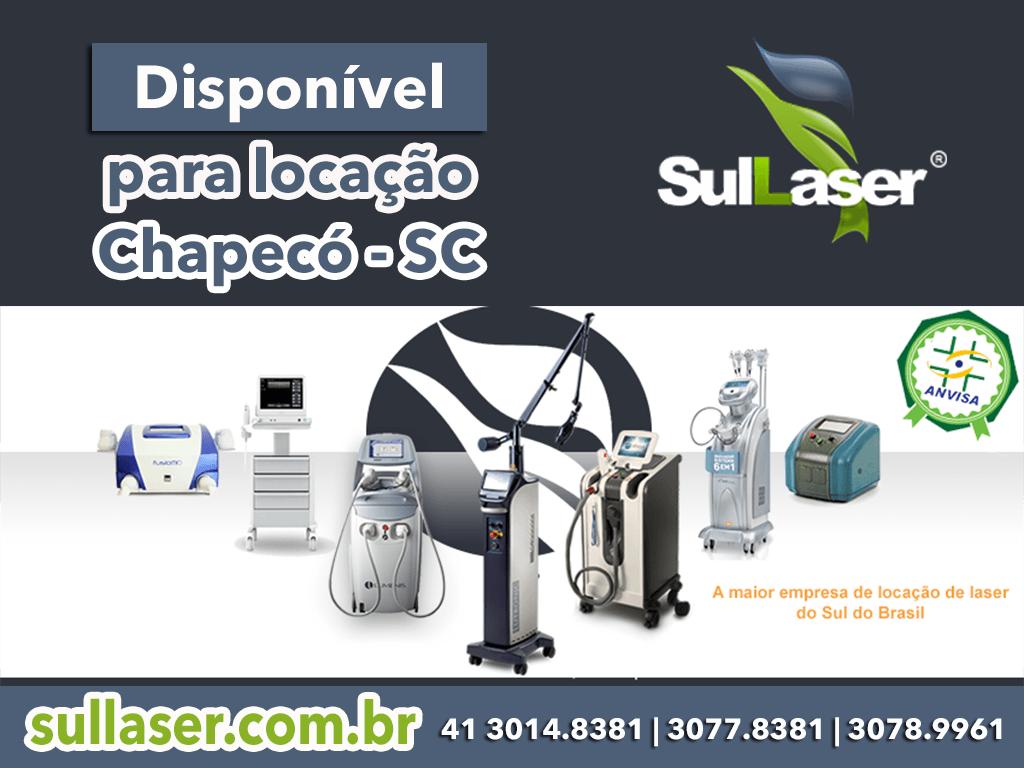 Locação de equipamentos médicos a laser em Chapecó