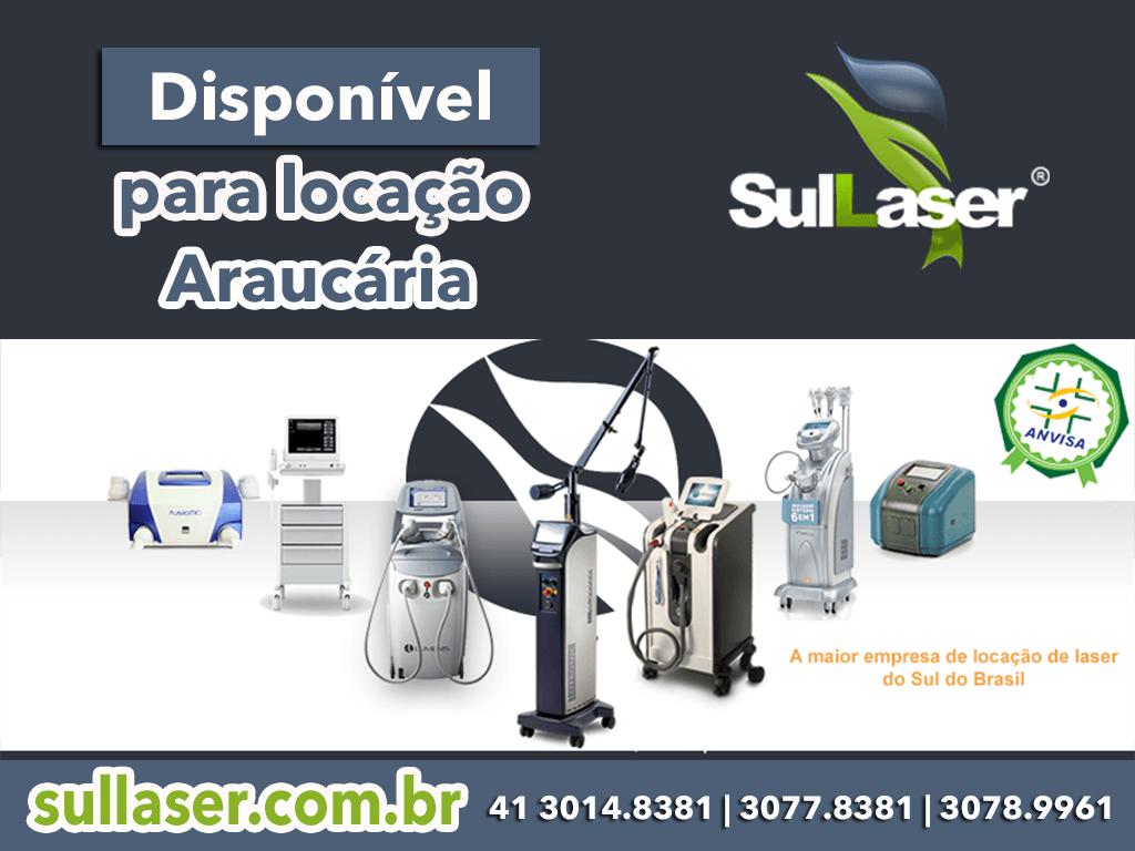 Locação de equipamentos médicos a laser em Araucária