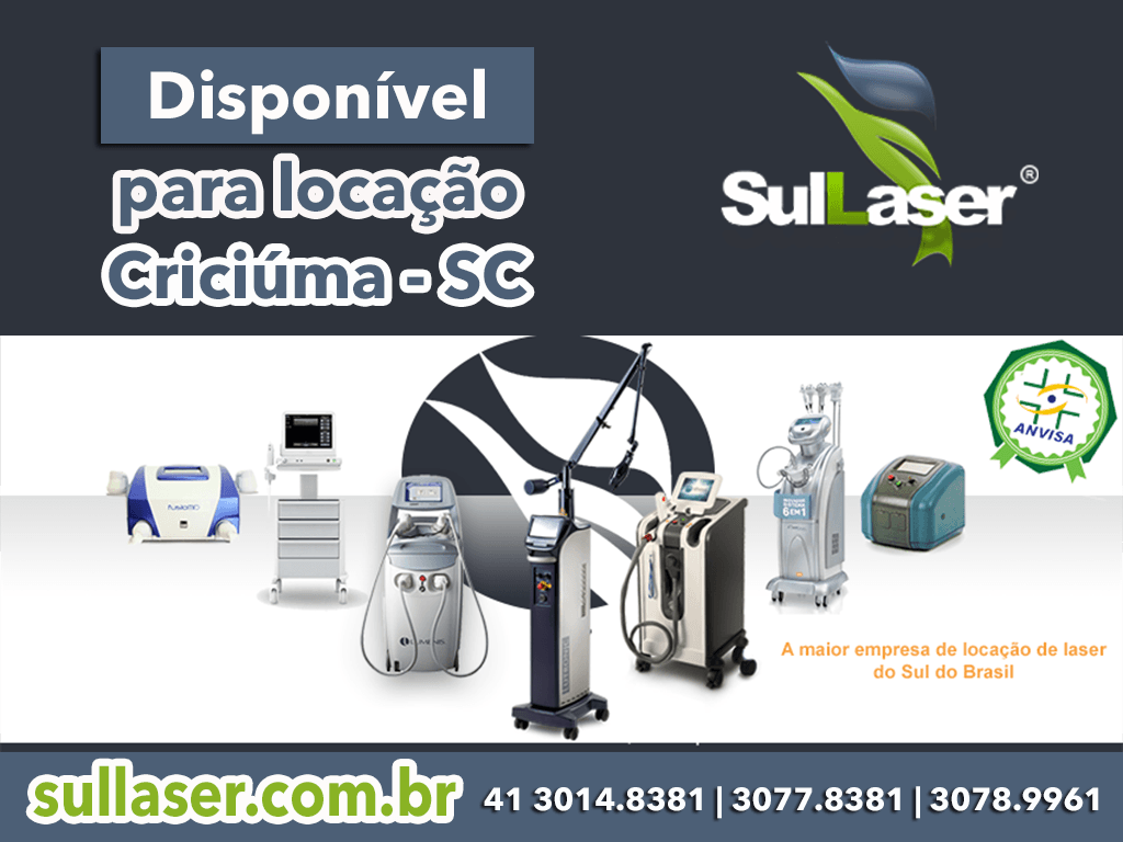 Locação de equipamentos médicos a laser em Criciúma